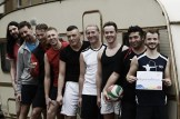 Karl and his team at Berlin Goldelsen-Cup Volleyball Tournament © CoupleofMen.com