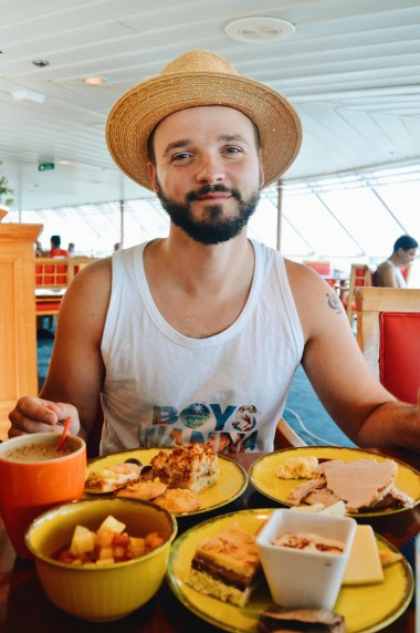 Karl and his morning coffee | Gay Couple Travel Diary The Cruise 2017 © CoupleofMen.com