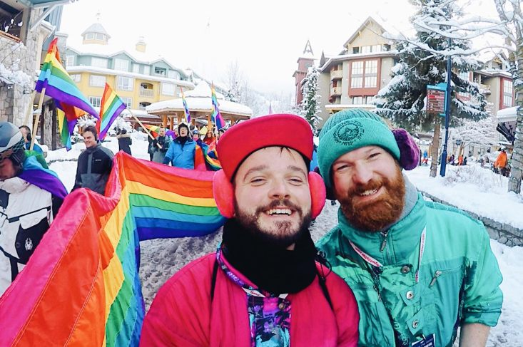 Couple of Men Gay Couple Gay Travel Blogger Gay Ski Week Best Top Worldwide