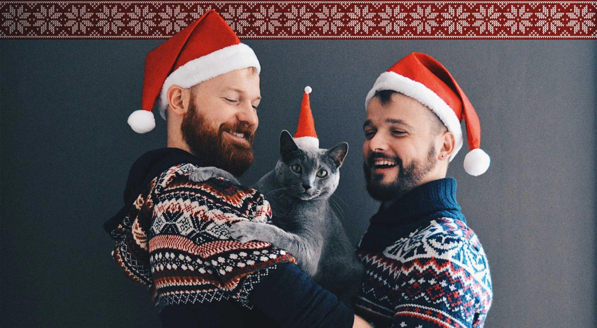 Merry Christmas Happy Holidays from Karl & Daan © CoupleofMen.com