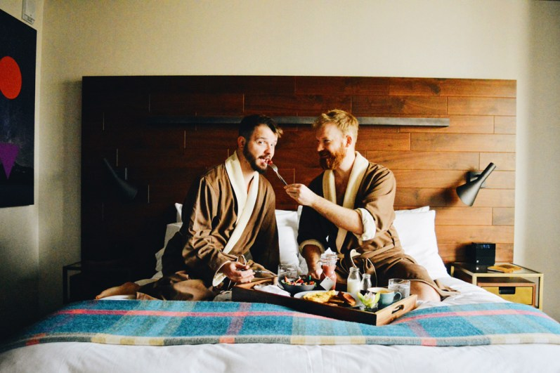 In-Dine Breakfast in Bed | The Douglas Vancouver Hotel gay-friendly © CoupleofMen.com
