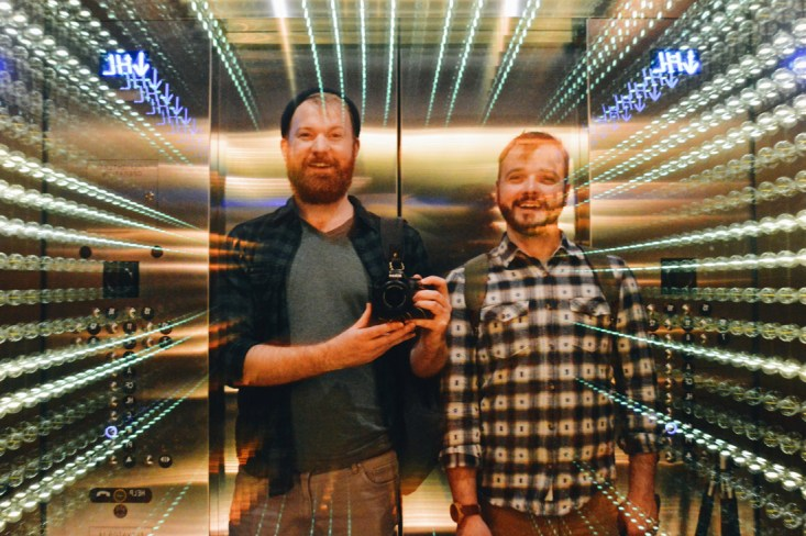 Gay Selfie in the Elevator | The Douglas Vancouver Hotel gay-friendly © CoupleofMen.com