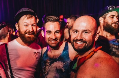Daan and some handsome Canadian guys | Whistler Pride 2018 Gay Ski Week © Chris Geary
