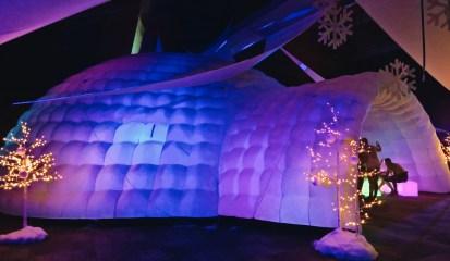 Gigantic Lounge Iglu at Snowball 2018 | Whistler Pride 2018 Gay Ski Week © Steve Polyak