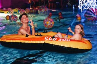 Rubber boats, beach balls and flamingos | Whistler Pride 2018 Gay Ski Week © Steve Polyak