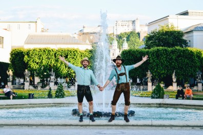 "Gay-friendly City Trip Salzburg Gay Städtetrip Salzburg Four-Elements-Fountain at Mirabell Gardens ""Vier-Elemente-Brunnen"" or ""Big Spout"" 