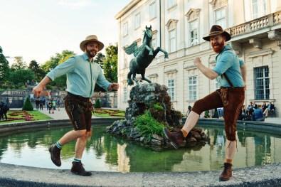 "Gay Städtetrip Salzburg Pegasus Fountain at Mirabell Gardens ""Pegasusbrunnen"" | Travel Salzburg Gay Couple City Trip © coupleofmen.com"