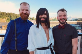 Gay-friendly City Trip Salzburg Gay Städtetrip Salzburg What a great moment meeting the Austrian Drag Star Conchita on the roof top of the Imlauer Pitter Hotel | Travel Salzburg Gay Couple City Trip © coupleofmen.com