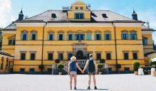 Gay-friendly City Trip Salzburg Gay Städtetrip Salzburg We as Gay Travelers hand-in-hand in front of the Hellbrunn Palace | Travel Salzburg Gay Couple City Trip © coupleofmen.com
