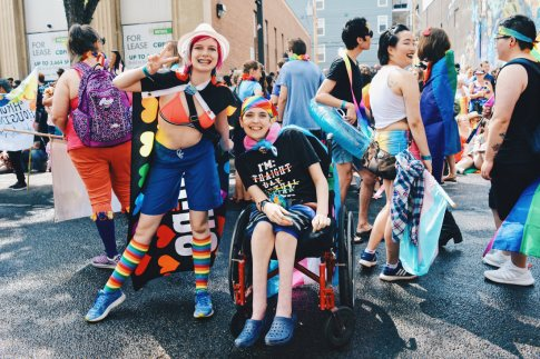 Accessibility for almost everyone | Gay Edmonton Pride Festival © Coupleofmen.com