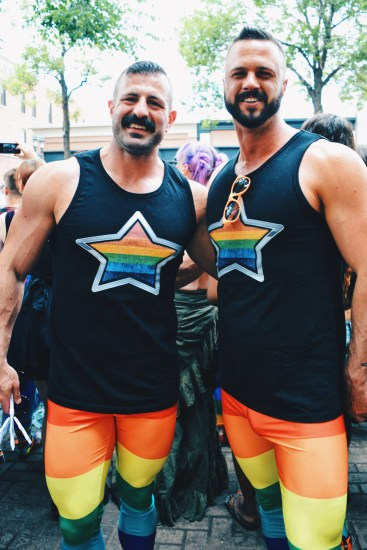 We even found some body builder muscled guys | Gay Edmonton Pride Festival © Coupleofmen.com