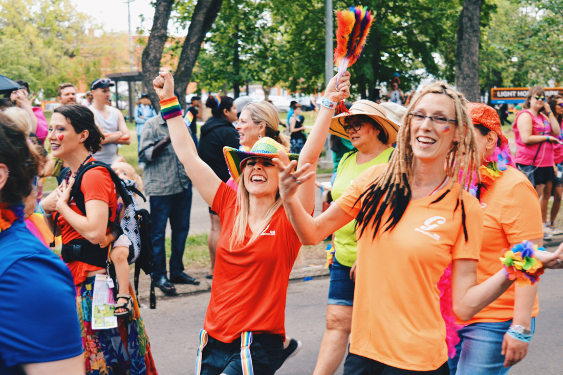 Gender doesn't matter as everyone was welcome! | Gay Edmonton Pride Festival © Coupleofmen.com