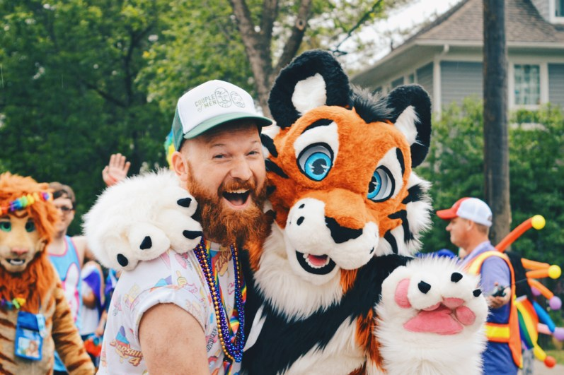 A big goup of Furries attended and Daan found is favorite, TIGGER | Gay Edmonton Pride Festival © Coupleofmen.com