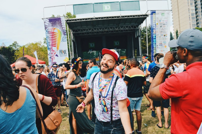 Dancing the rain clouds away at Edmonton Pride Festival | Gay Edmonton Pride Festival © Coupleofmen.com