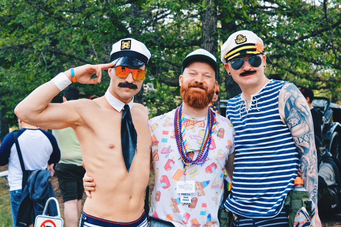 Ship ahoy! Daan and this two captains | Gay Edmonton Pride Festival © Coupleofmen.com