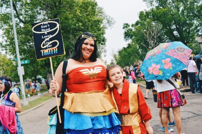 Wonder Woman - You don't need a lasso to live your truth | Gay Edmonton Pride Festival © Coupleofmen.com