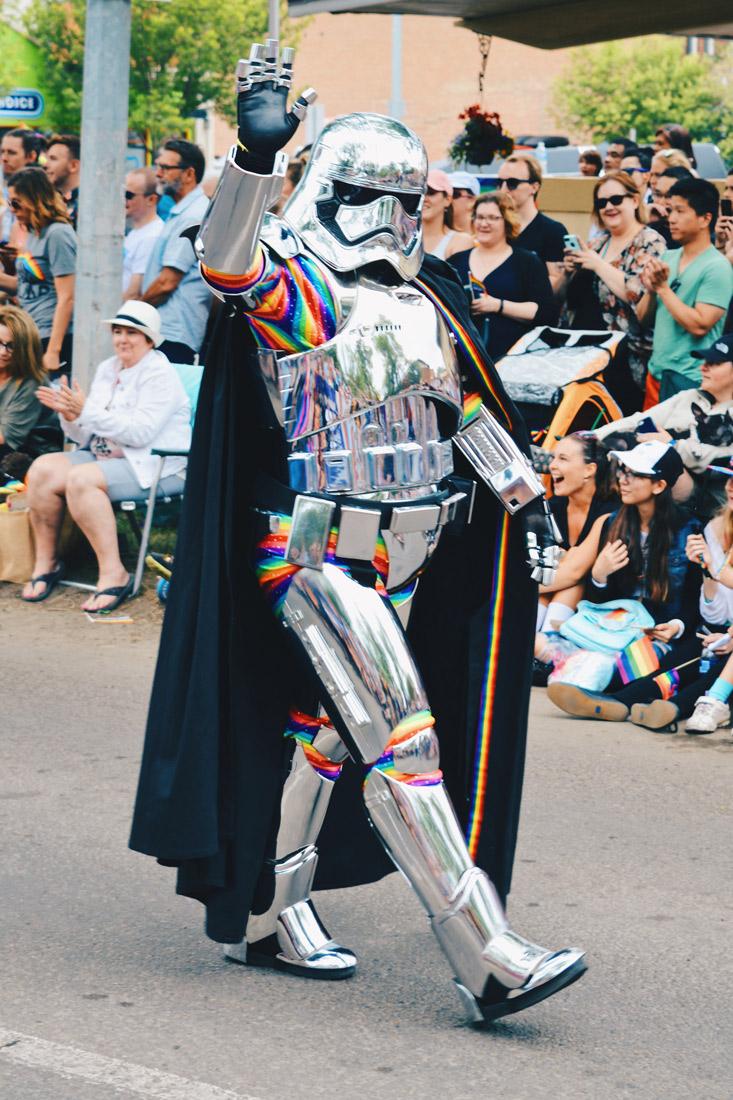 dressed with rainbow elements | Gay Edmonton Pride Festival © Coupleofmen.com