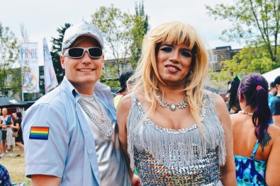 "LGBTQ2S+ beautifully dressed at ""Pride in the Park"" | Gay Edmonton Pride Festival © Coupleofmen.com"