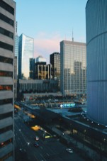 View out of our Hotel Room (Corner room) on the Toronto Sign | Marriott Downtown Toronto Eaton Centre © Coupleofmen.com