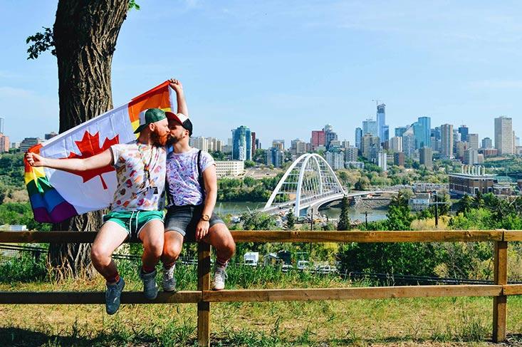 Gay Pride Parade Edmonton Canada Gay Edmonton Pride Festival 2018 © Coupleofmen.com