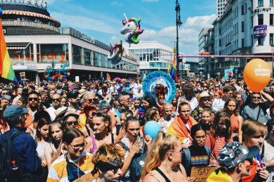 And this is just the beginning of the Berlin Gay Parade with Unicorns and colorful motivated LGBTQ+ | CSD Berlin Gay Pride 2018 © Coupleofmen.com