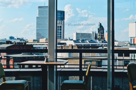 View from the Rooftop Bar #ScandicKudamm | Scandic Berlin Kurfürstendamm gay-friendly Hotel © Coupleofmen.com