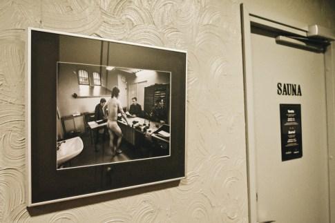 Naked truth right next to the Sauna entrance | Katajanokka Hotel Helsinki Gay-friendly Review © Coupleofmen.com