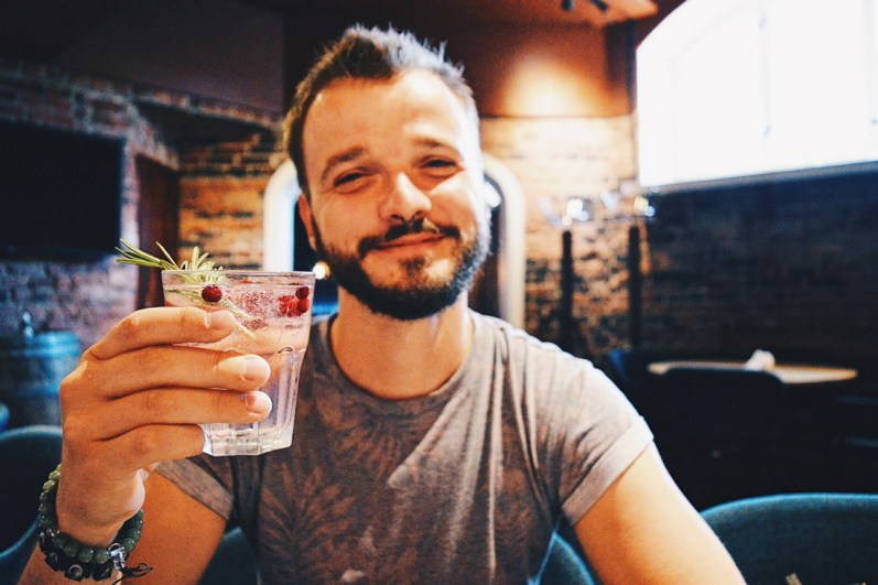Cheers on our Prison stay with a Finnish Gin Tonic | Katajanokka Hotel Helsinki Gay-friendly Review © Coupleofmen.com