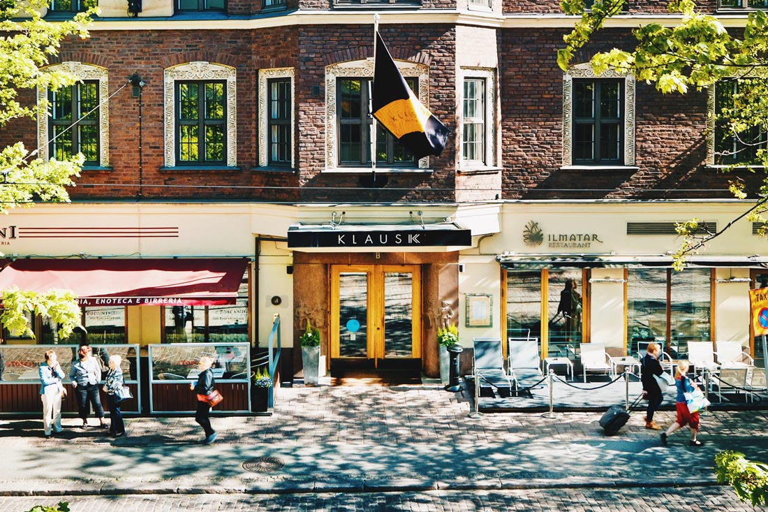 Front of the LGBT friendly hotel in central Helsinki | Klaus K Hotel Helsinki Gay-friendly Tom of Finland Package © Coupleofmen.com