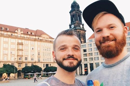 Gay Trip Dresden Selfie © Coupleofmen.com