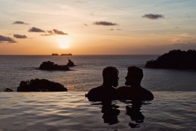 Wow, what a sunset over the Pacific Ocean from our private villa at Casa Chameleon | Gay-friendly Costa Rica © Coupleofmen.com