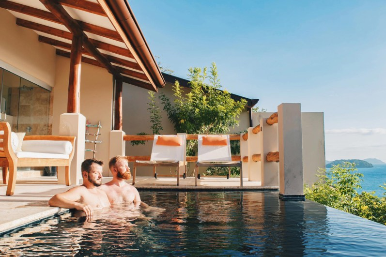 Gay Travel Journal Costa Rica Private Villa including infinity pool at Casa Chameleon at Las Catalinas | Gay-friendly Costa Rica © Coupleofmen.com