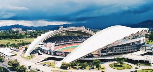 Football Stadium Estadio Nacional de Costa Rica in San José with an arriving thunderstorm | Gay-friendly Costa Rica © Coupleofmen.com