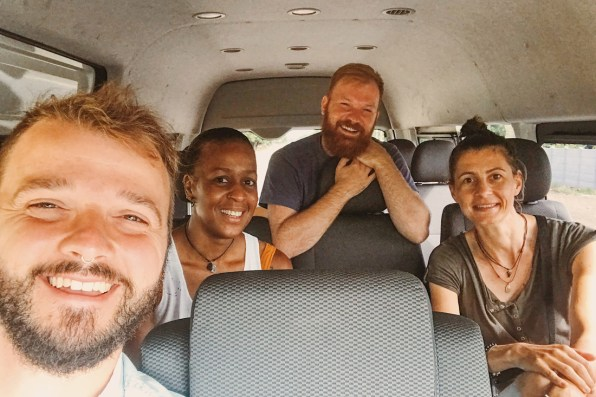 Meet our new friends, a lesbian couple from Amsterdam who we met in one of the Gray Line transfers | Gay-friendly Costa Rica © Coupleofmen.com