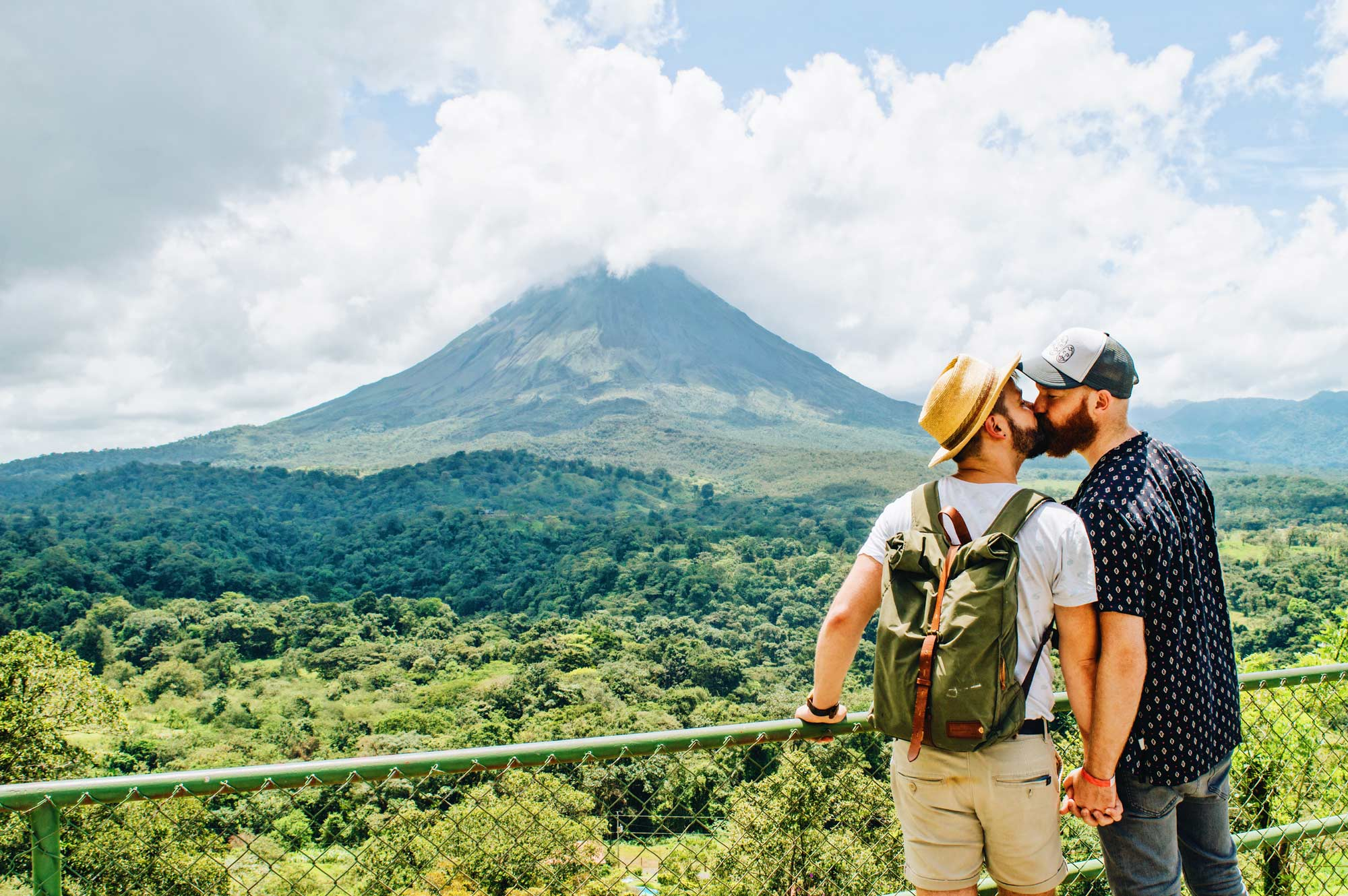 Exploring Gay-friendly Costa Rica hand-in-hand together © Coupleofmen.com