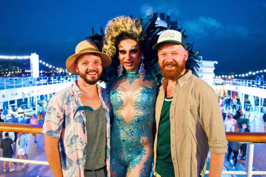 We have new favorite Drag Queen: Priscilla Drag Queen from Mykonos | Gay Cruise by Open Sea Cruises x Axel © Coupleofmen.com