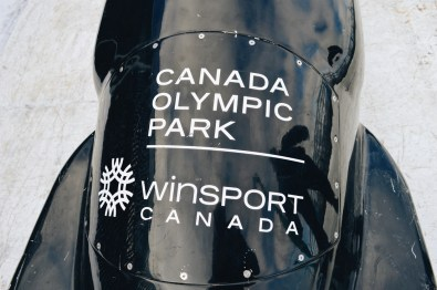 Bobsled of the Canada Olympic Park Winsport | Winter Road Trip Alberta Highlights Canadian Rocky Mountains © Coupleofmen.com