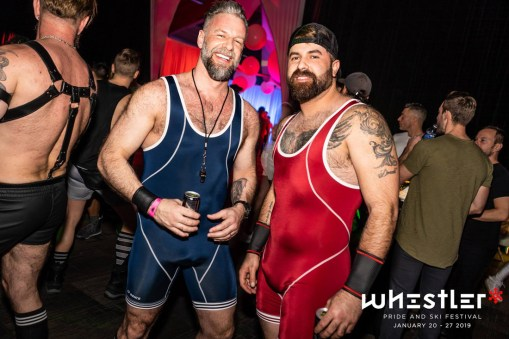 Whistler Pride Ski Festival Whistler Pride Gay Skiwoche Well... Canadian bears in their natural habitat at Snowball 2019 © Whistler Pride/ Photo by Darnell Collins