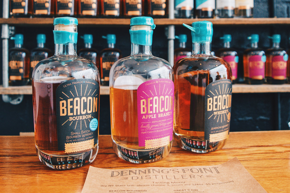 Gay Reisen Dutchess County Bourbon, Brandy, Whiskey - Our Tip is the Gin with the Blue Top - Denning's Point Distillery © Coupleofmen.com