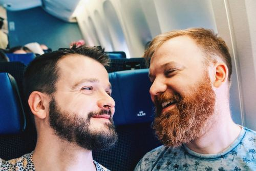 KLM Royal Dutch Airlines Couple of Men Gay Chicago City Guide © Coupleofmen.com