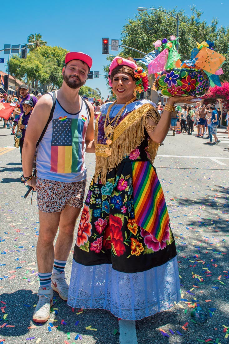You can always catch Karl with some colorful Mexican candy. Happy Pride! LA Pride West Hollywood © Coupleofmen.com