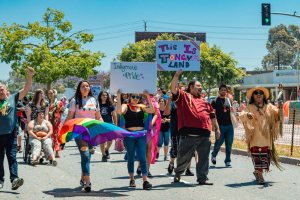 Indigenous Pride attendees marching as part of LA Pride 2019 © Coupleofmen.com