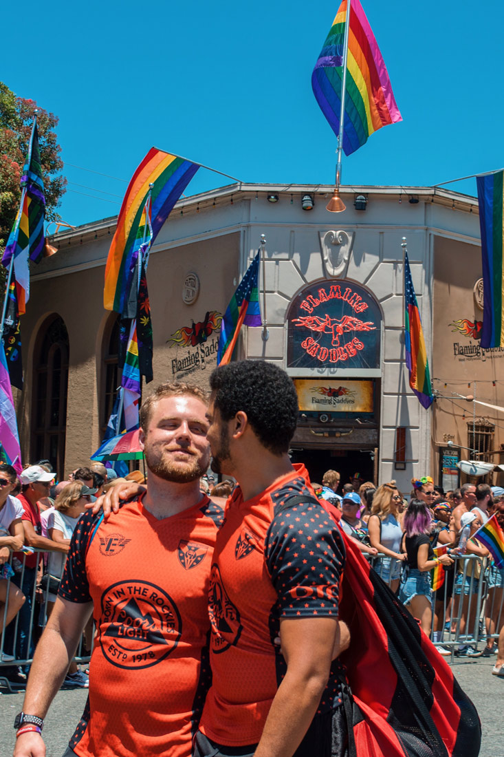 And this is just so beautiful - Young love between two bearded men from the LA Rugby Team arm-in-arm © Coupleofmen.com