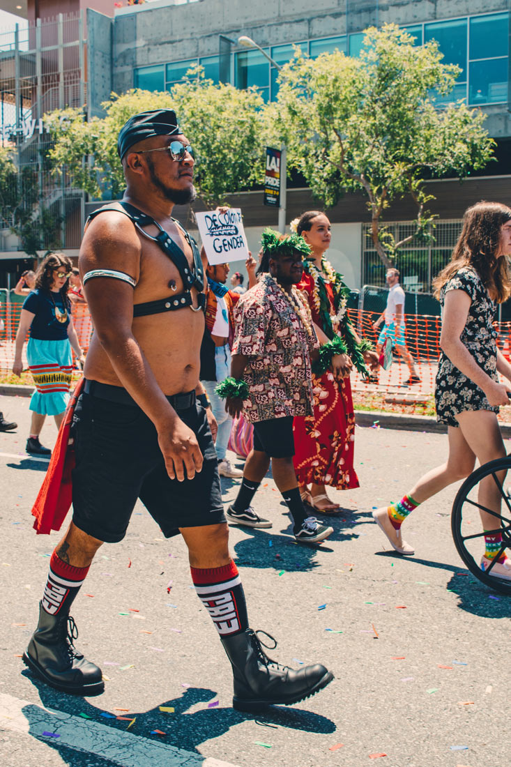 Fuck Gender - Supporting Diversity, Inclusivity and Love © Coupleofmen.com at LA Pride West Hollywood 2019