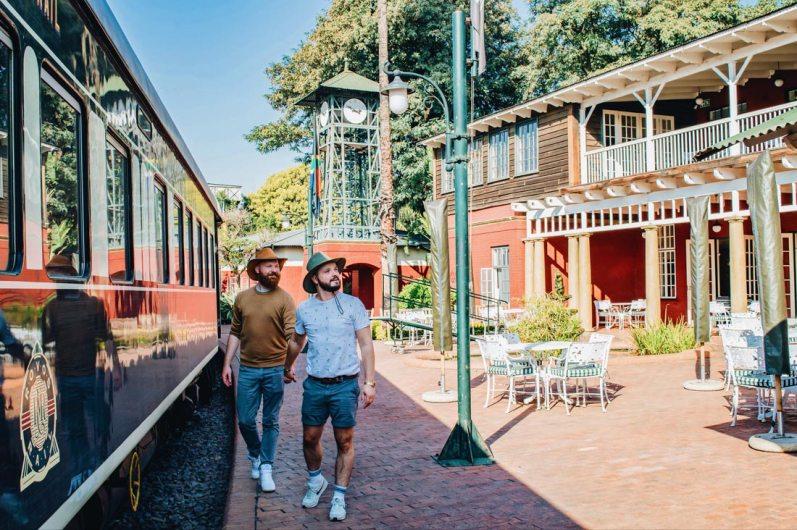 Exploring a piece of rail history hand-in-hand at Rovos Rail headquarters in Pretoria © Coupleofmen.com