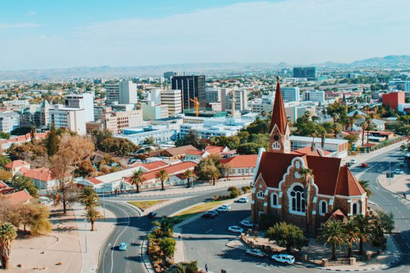 View of Namibia's capital city and one of the main sights: Christuskirche © Coupleofmen.com