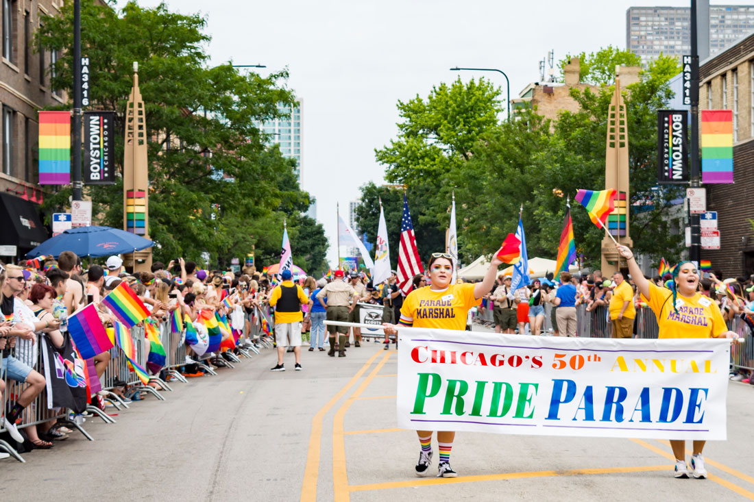 Chicago Gay City Tipps Opening - Chicago's 50th Annual Pride Parade: Chicago Pride Parade 2019 © Coupleofmen.com