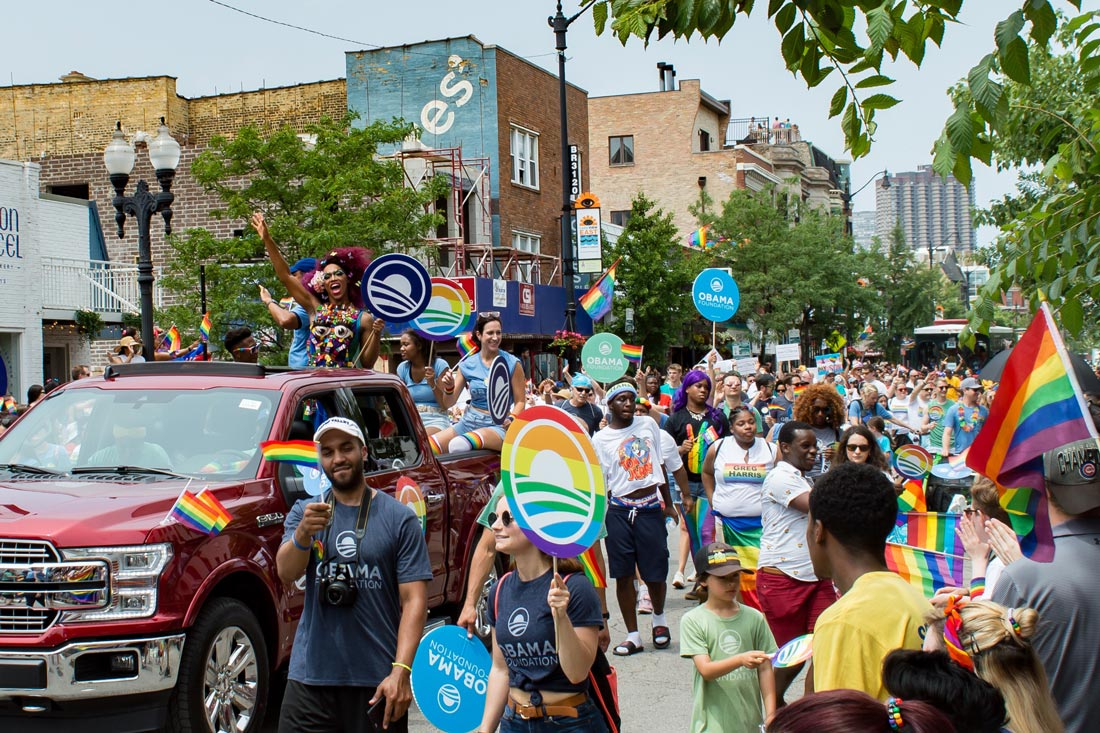 Chicago Gay City Tipps RuPauls Drag Race Queen Vixen at Chicago Pride Parade 2019 © Coupleofmen.com