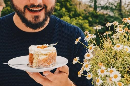 Gay-owned Café Ransvik Havsveranda Karl loves his freshly baked Swedish cake © Coupleofmen.com