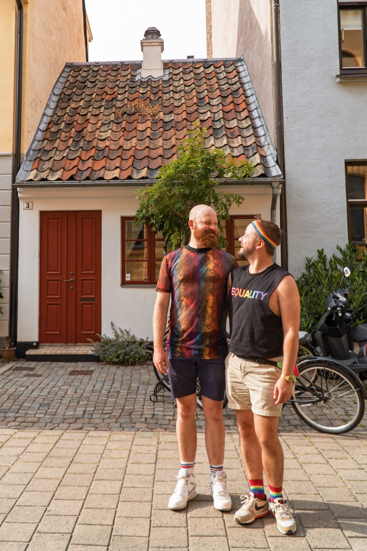 Gay Pride Malmö 2019 Aren't those little Swedish house super cute? Yes my dear, I love you too © Coupleofmen.com